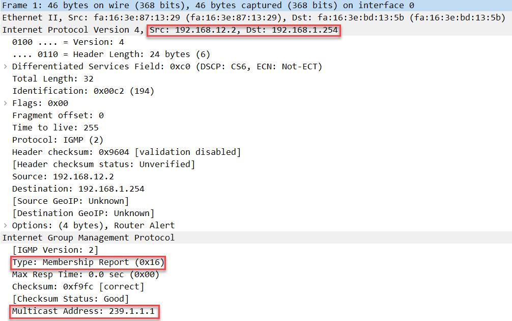 Wireshark Capture Igmp Proxy Membership Report