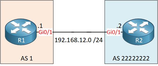 Bgp 2 Octet 4-byte Router