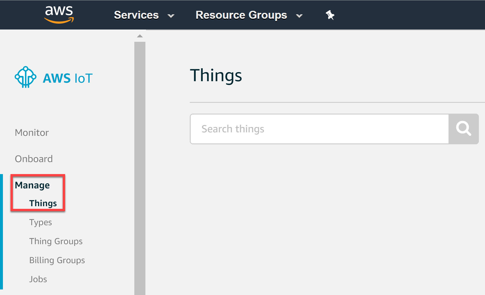 Aws Iot Manage Things