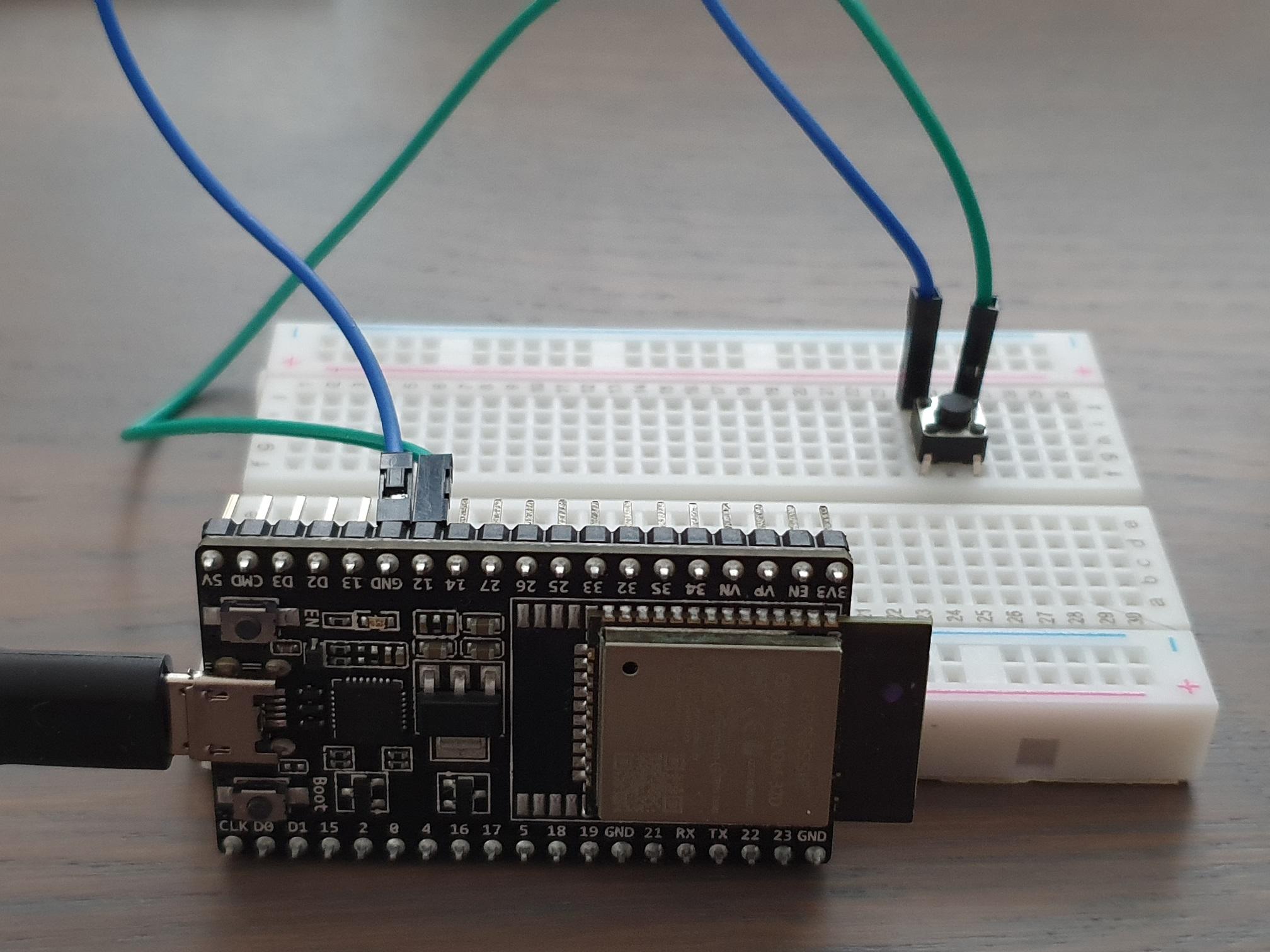 Esp32 Breadboard Button
