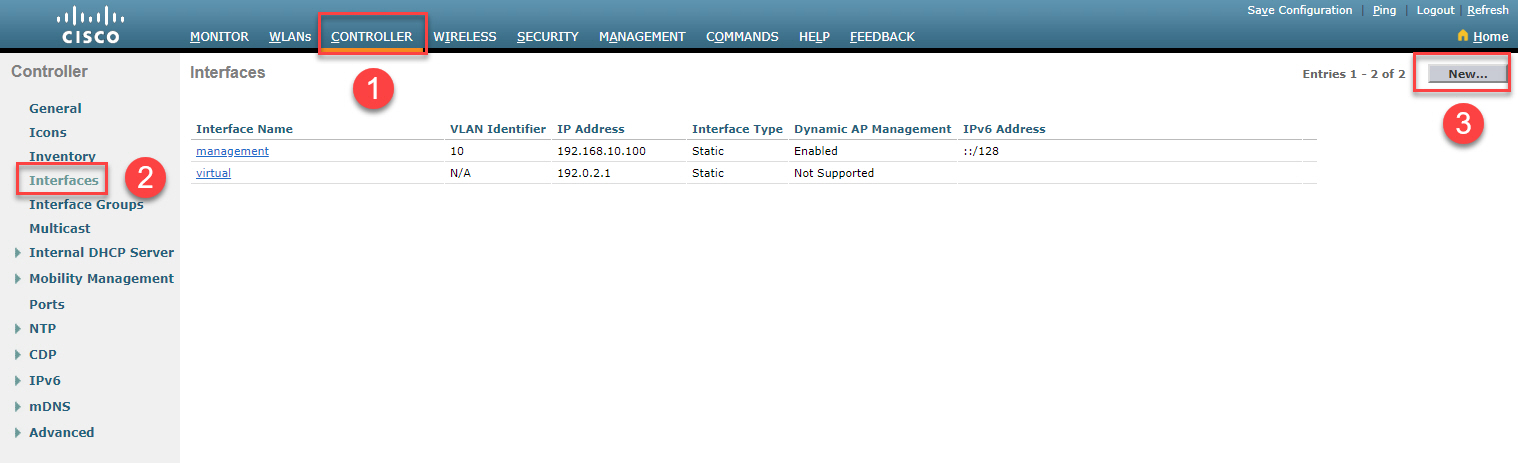 Cisco Wlc Create New Interface