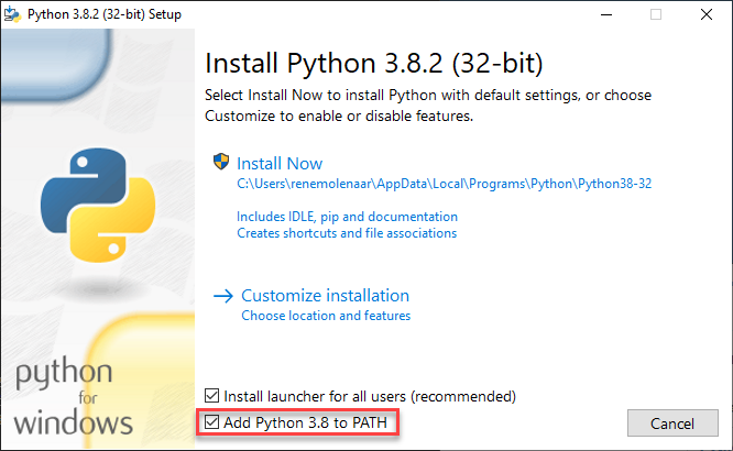 Install Python Path