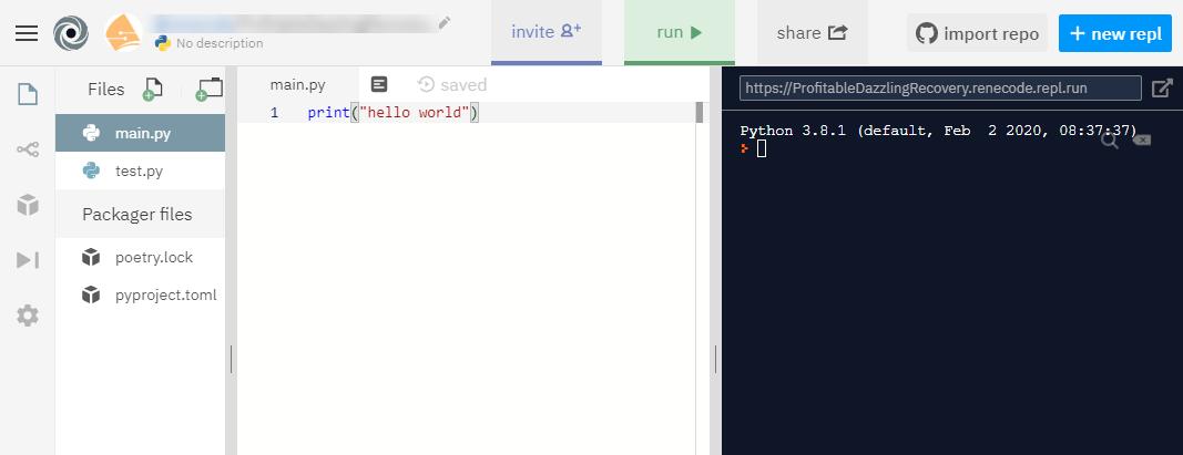 Python Online Ide Replit