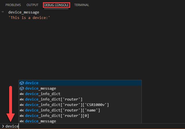 Vscode Python Debug Console
