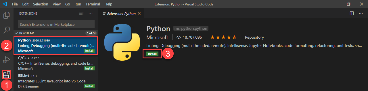 Vscode Python Extension