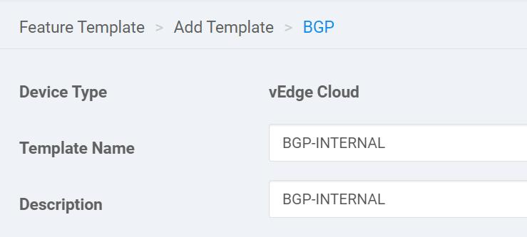 Cisco Sd Wan Feature Template Bgp Name