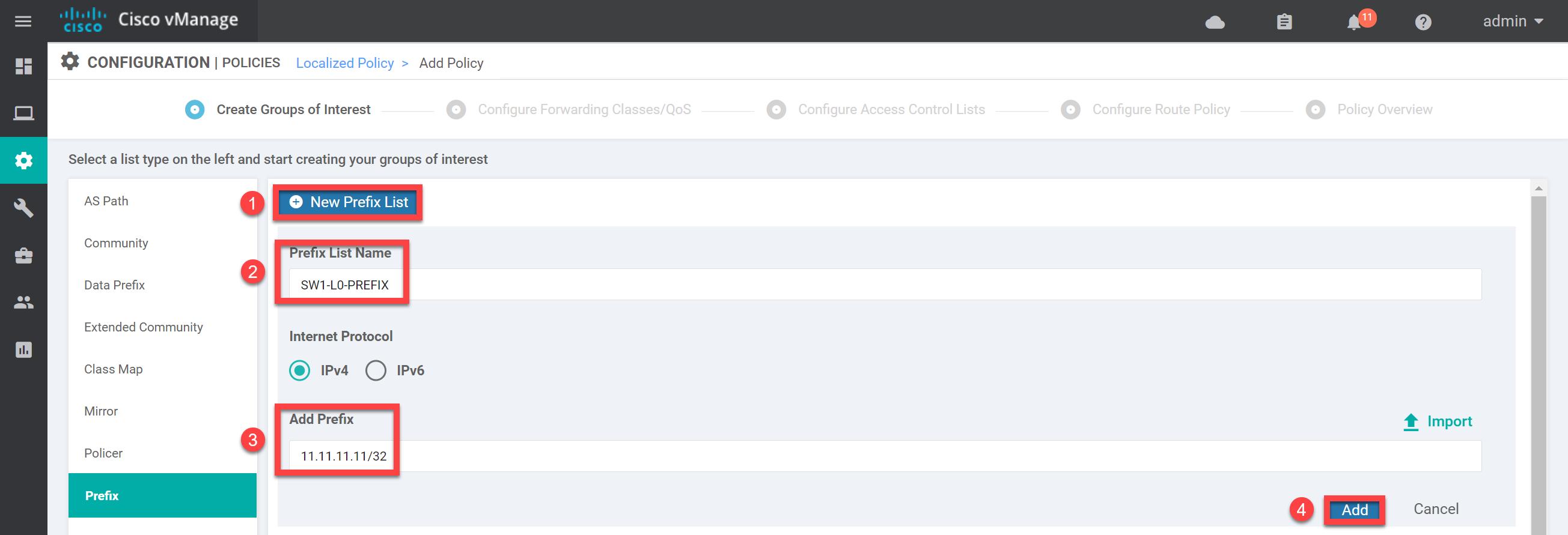 Cisco Sd Wan Localized Policy Prefix List