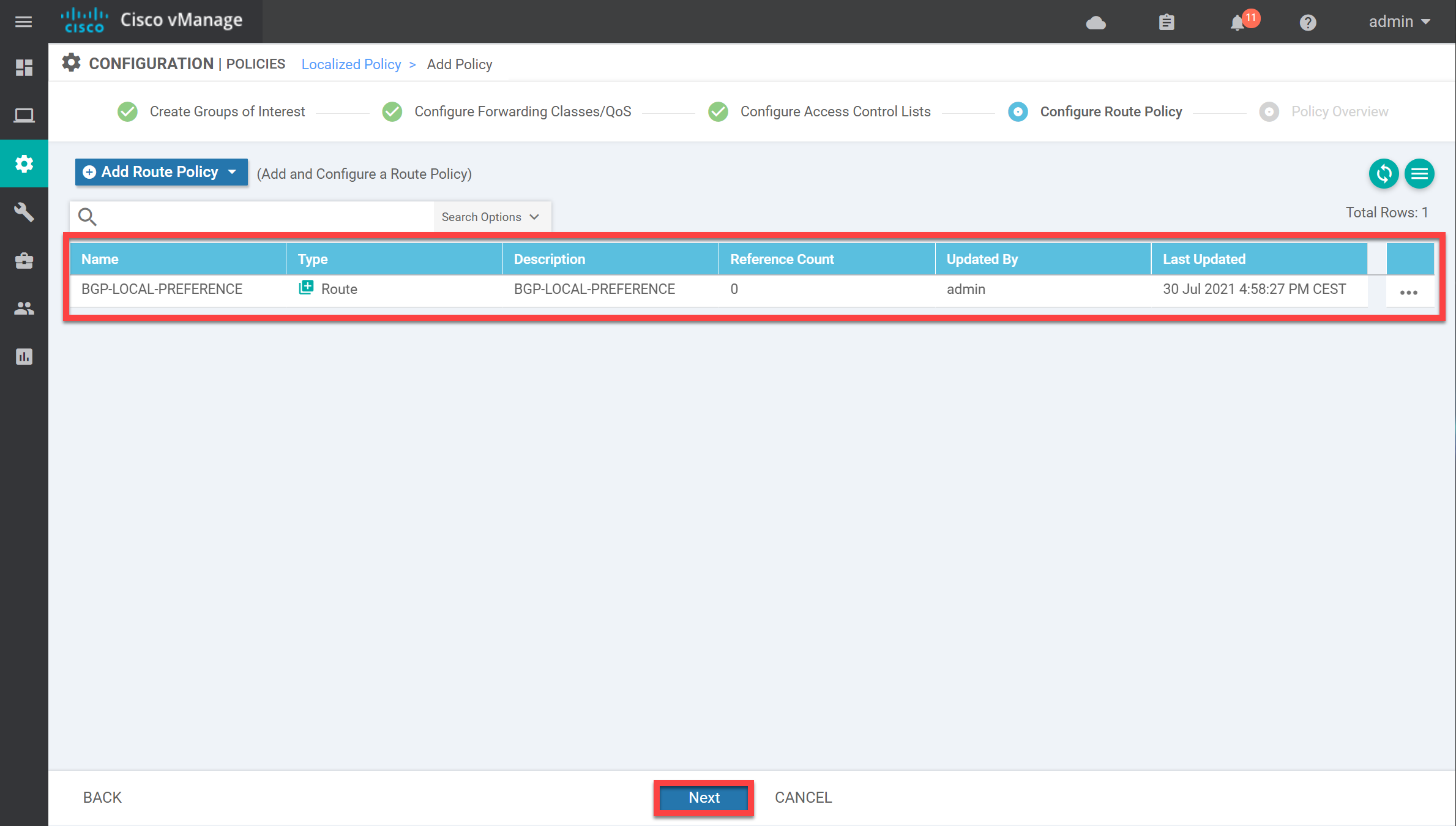 Cisco Sd Wan Localized Policy Route Policy Overview Main