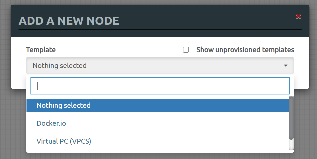 Eve Ng Add New Node Empty