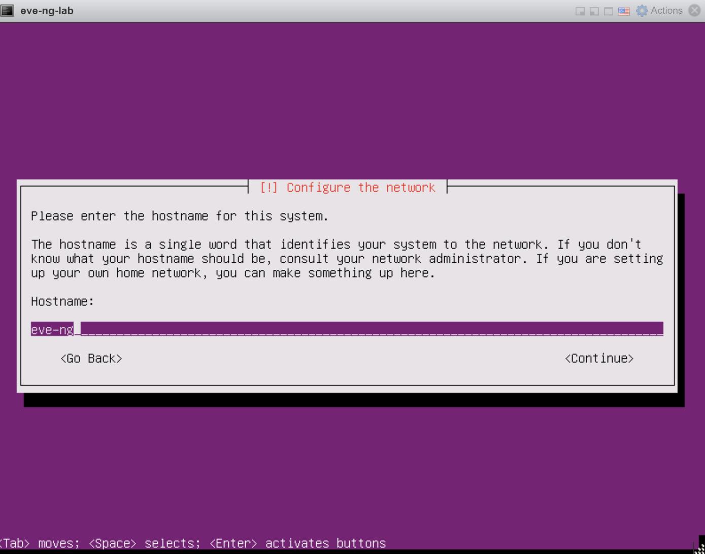 Eve Ng Installation Configure Hostname