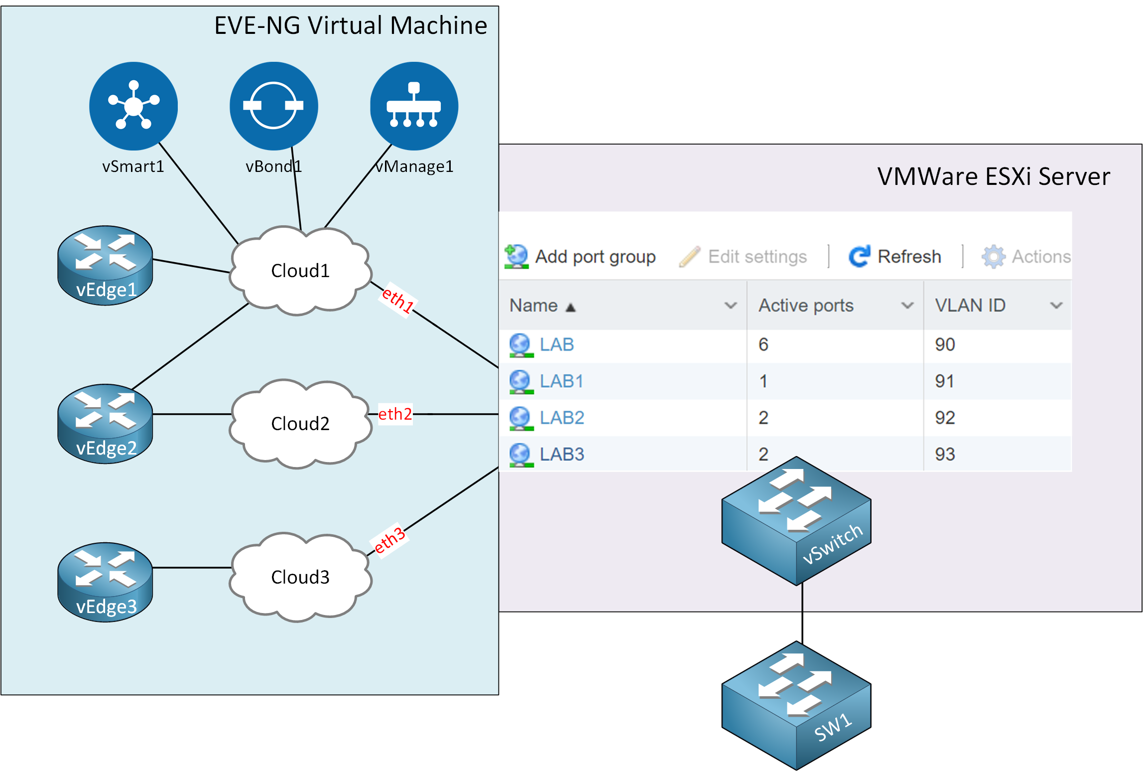 Eve Ng Vmware Esxi Virtual Nics