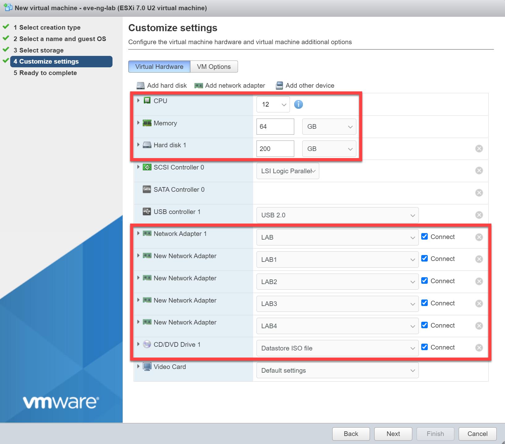 Vmware Esx Customize Settings