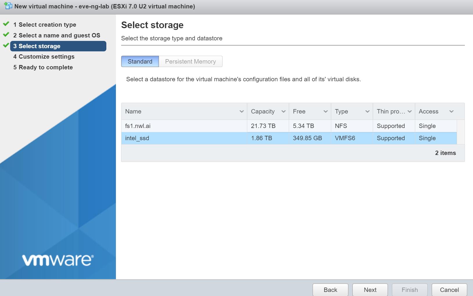 Vmware Esxi Create New Vm Storage
