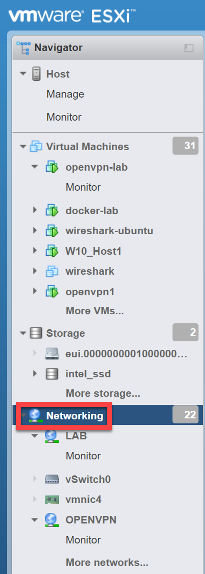 Vmware Esxi Networking
